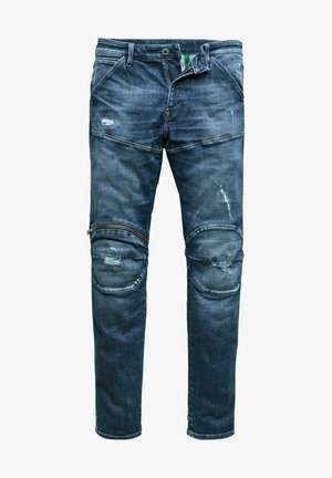 5620 3D ZIP KNEE SKINNY - Jeans Skinny Fit - faded ripped baltic sea