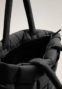 Mango - EDREDON - Shopping bags - noir - 4