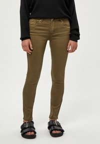 Desires - LOLA GARMENT DYE MIDWAIST - Jeans Skinny Fit - military olive - 0
