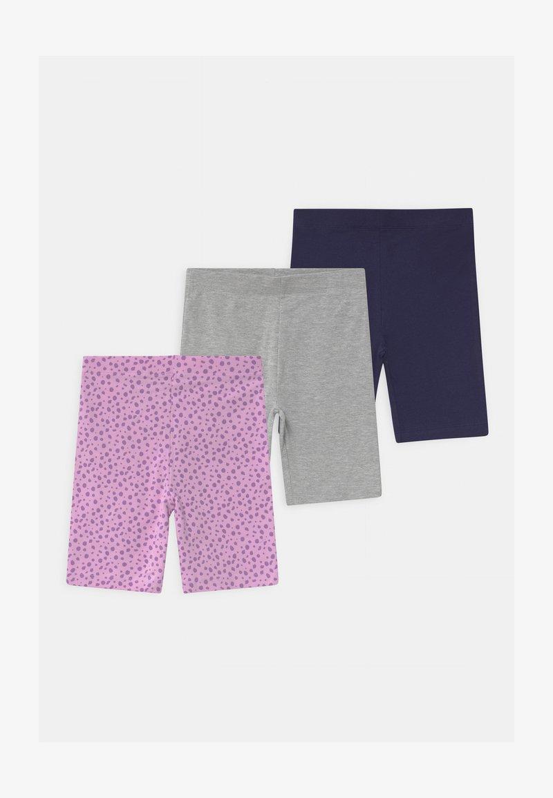Friboo - 3 PACK - Shorts - dark blue/grey/purple