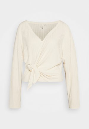 LUXURIOUS WRAP - Long sleeved top - offwhite