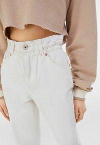 Bershka - Straight leg jeans - stone - 3