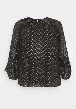 GOLD FOIL FRILL SHOULDER  - Blouse - gold