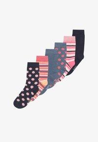Ewers - PUNKTE/UNI/RINGEL 6 PACK - Socks - blue/pink - 2