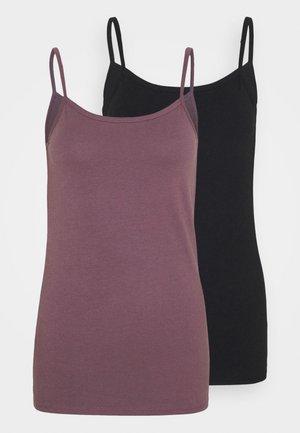 SPAGHETTITOP 2 PACK - Unterhemd/-shirt - black/mauve