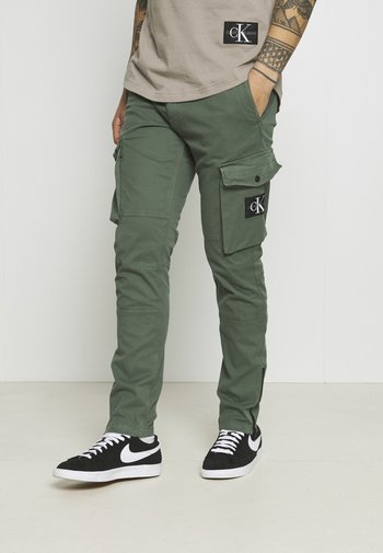 WASHED PANT - Cargobyxor - duck green