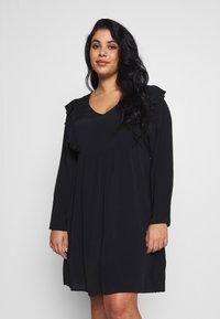 Cotton On Curve - BRITT BABYDOLL MINI DRESS - Sukienka letnia - black - 0
