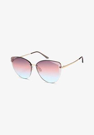 Sunglasses - gestell gold / glas violett-blau verlauf