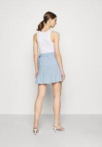 ONLY - ONLCARLY BETTI LIFE WRAP STRIP SKIRT - Wrap skirt - cloud dancer/allure - 2