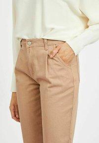 Vila - HOHER BUND - Straight leg jeans - tigers eye - 4