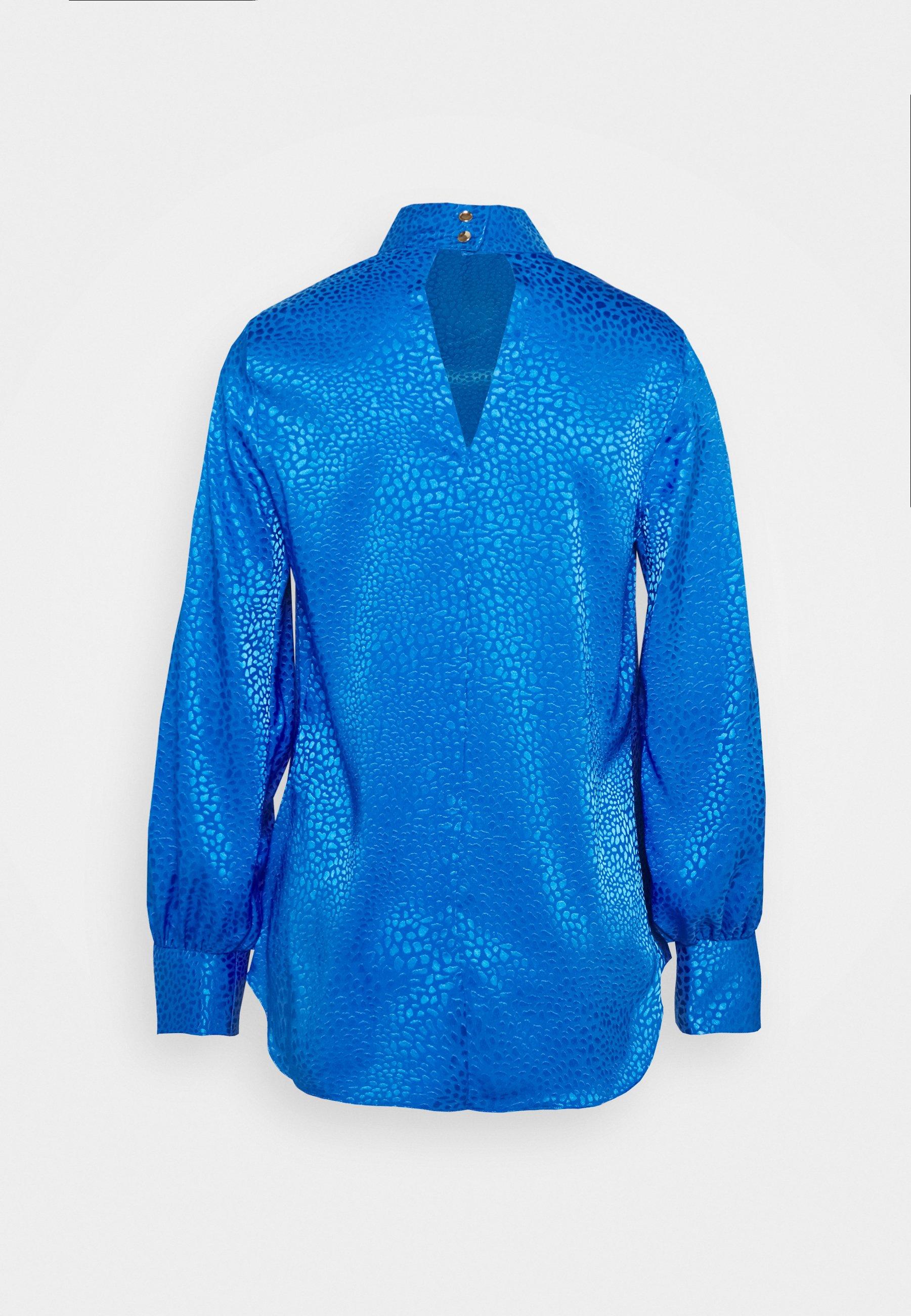 Closet High Neck Blouse - Bluser Cobalt/kongeblå