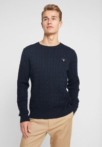 GANT - CABLE CREW - Neule - evening blue - 0