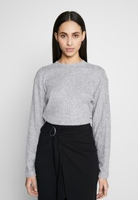 Topshop Tall - SPLIT BACK CUT AND SEW - Pullover - grey - 0