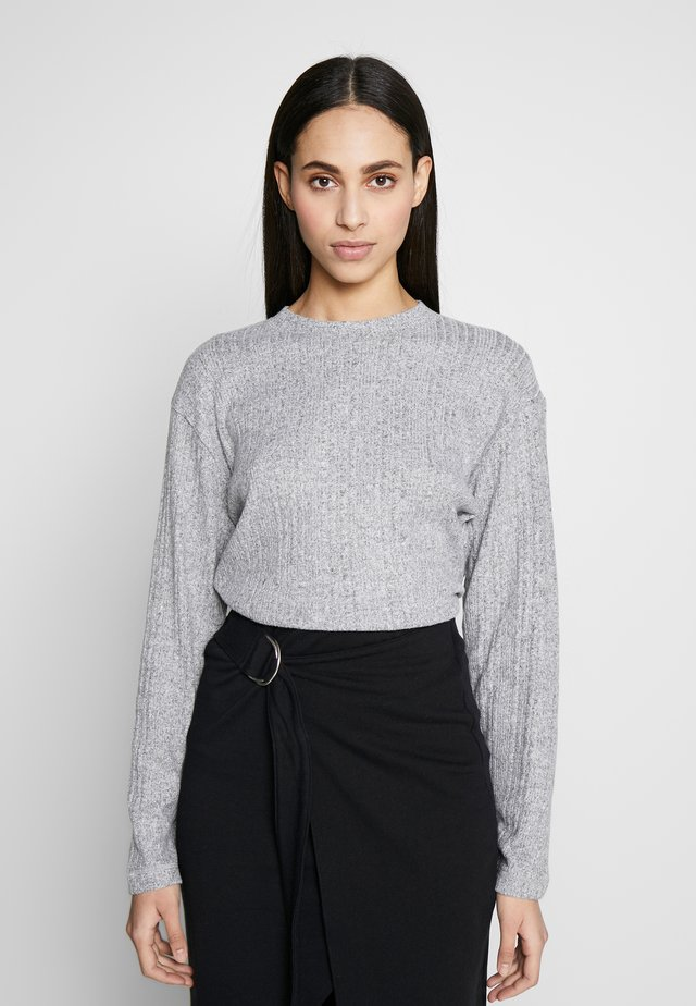 SPLIT BACK CUT AND SEW - Sweter - grey