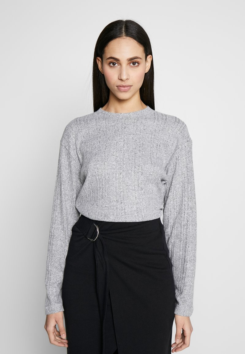 Topshop Tall - SPLIT BACK CUT AND SEW - Pullover - grey