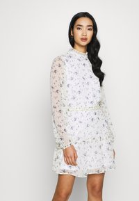 Nly by Nelly - VOLUME SLEEVE FRILL DRESS - Day dress - blue - 3