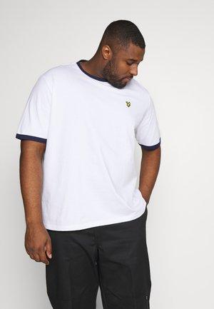 RINGER - T-shirt con stampa - white/navy