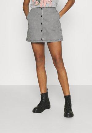 CREEPER SKIRT - Mini skirt - black/white