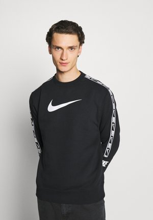 REPEAT CREW - Sweater - black/white