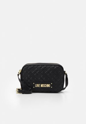 QUILTED CHAIN CAMERA BAG - Across body bag - nero