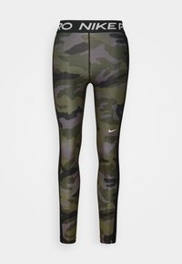 Nike Performance - TIGHT 7/8 CAMO - Legginsy - thunder grey/black/white - 4