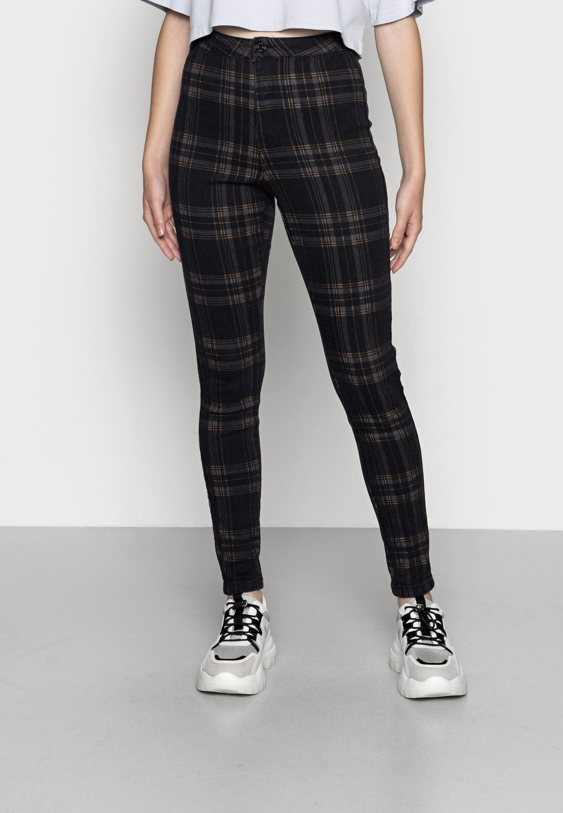 Women CHECK VICE CHECKED HIGHWAISTED - Jeans Skinny Fit