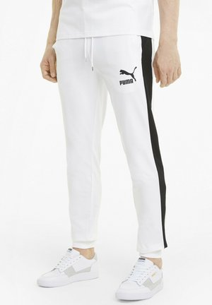 ICONIC - Tracksuit bottoms - puma white