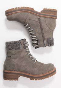 TOM TAILOR - Lace-up ankle boots - mud - 3