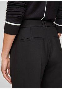 s.Oliver BLACK LABEL - Trousers - black - 4