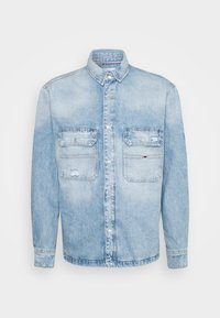 Tommy Jeans - WORKER SHIRT JACKET UNISEX - Denim jacket - light blue denim - 0