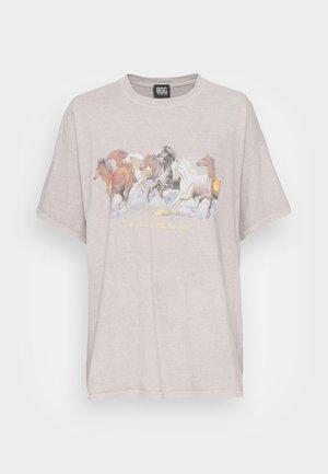 DAD TEE - T-shirt con stampa - beige