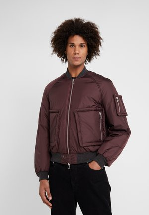 READ - Bomber Jacket - burgundy