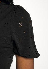 Vila - VITAMARA SHORT BRODERI DRESS - Denní šaty - black - 4