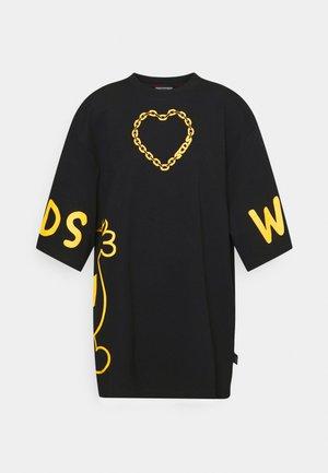 MR MESSY OVERSIZE TEE - Print T-shirt - black