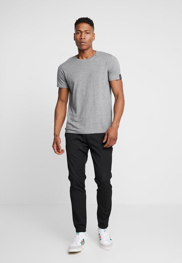 Replay T-shirt basic - grey melange/szary melanż Odzież Męska ELJN