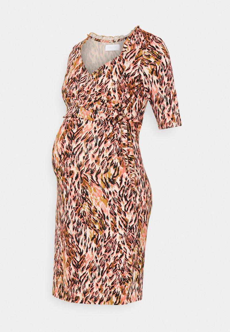 MAMALICIOUS - NURSING DRESS - Jersey dress - shell pink/green