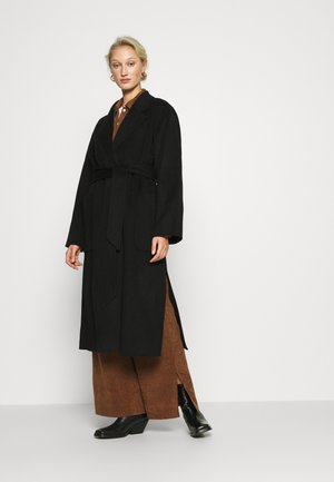 BELTED COAT - Mantel - black