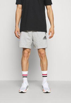 Short de sport - medium grey heather/black