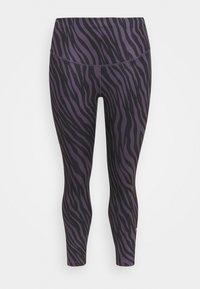 Nike Performance - ONE 7/8  - Leggings - dark raisin/white - 0