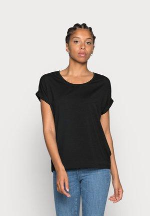 ONLMOSTER ONECK - Jednoduché triko - black/solid black
