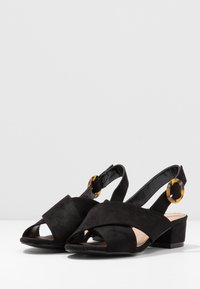 Simply Be - WIDE FIT HOUSTON - Sandály - black - 4
