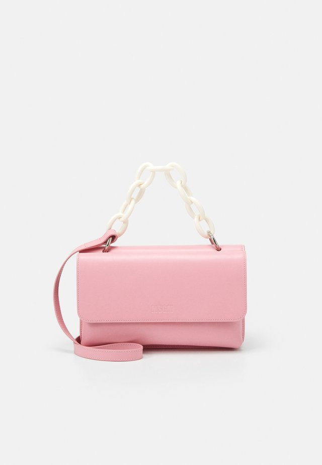 RECTANGLE BAG WITH CHAIN - Handbag - pink