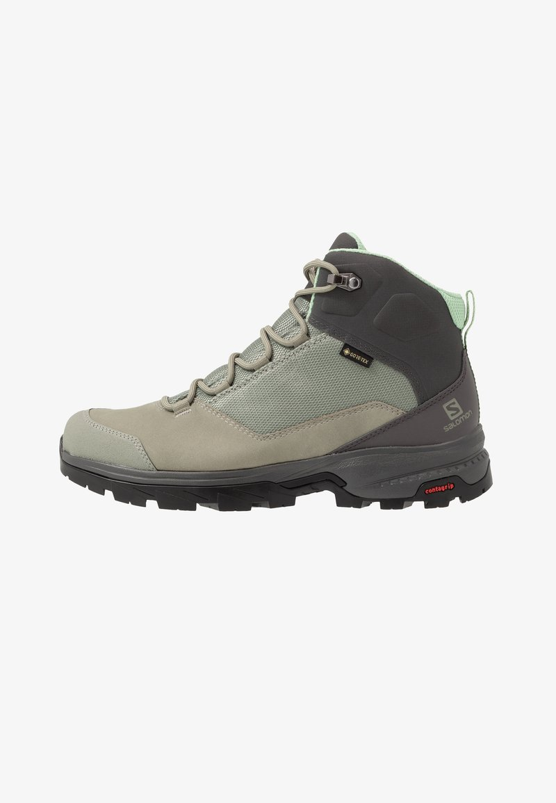 Salomon - OUTWARD GTX - Hiking shoes - shadow/magnet/spruce stone