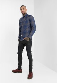 G-Star - 3301 SLIM - Shirt - indigo/carbid - 1