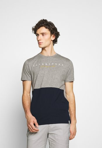 JORSTATION - Camiseta estampada - light grey melange
