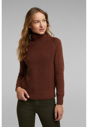 COWL NECK - Jumper - brown