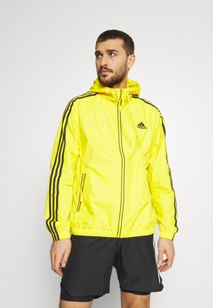 BASIC 3 STRIPES WINDBREAKER - Outdoor jacket - yellow
