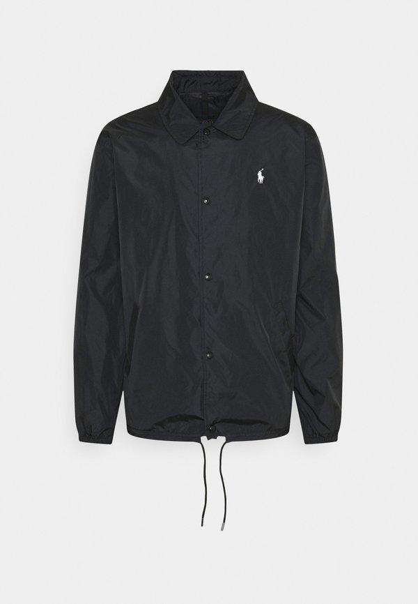 Polo Ralph Lauren PLAINWEAVE COACHS JACKET - Kurtka wiosenna - black/czarny Odzież Męska WXMT