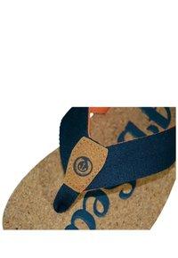 MADSea - T-bar sandals - kork/dunkelblau/orange - 4