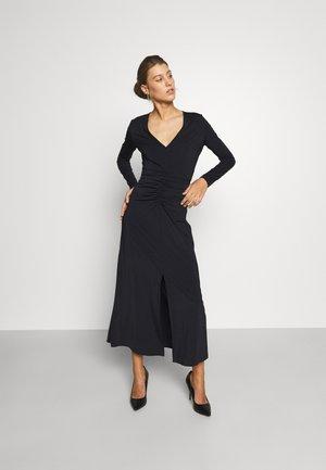 MELANIE DRAPE DRESS - Vestito lungo - noir